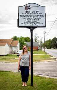 Visiting Link's childhood home in Dunn, North Carolina, 2015. Photo by Allison Apperson.